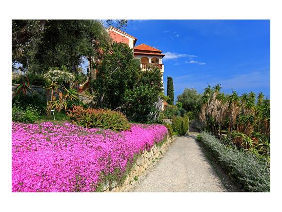 Path at Hanbury Botanic Gardens near Ventimiglia, Province of Imperia, Liguria, Italy--Art Print