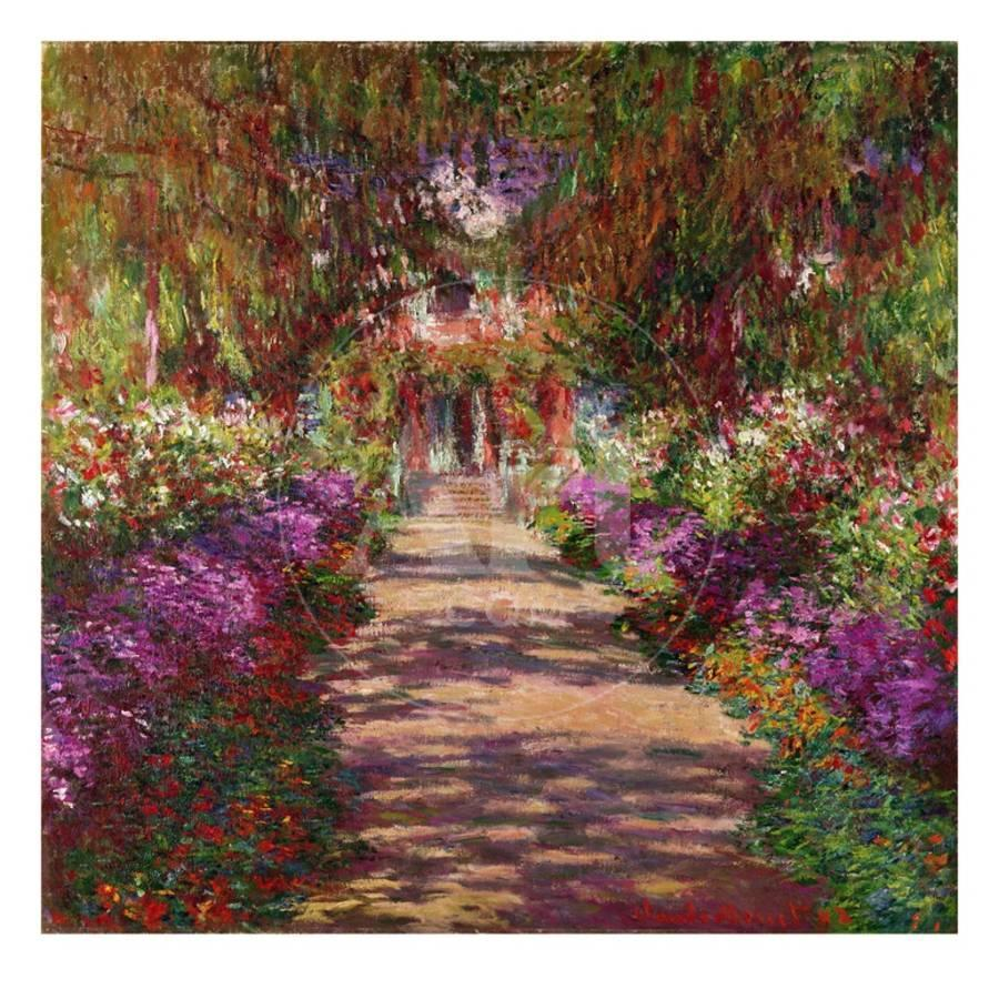 Path in Monet\'s Garden, Giverny Giclee Print by Claude Monet | Art.com