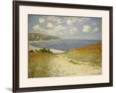 Path in the Wheat at Pourville, 1882-Claude Monet-Framed Giclee Print