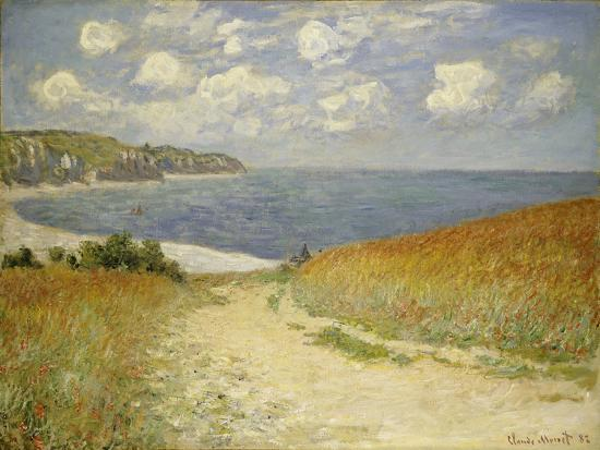 Path in the Wheat at Pourville, 1882-Claude Monet-Giclee Print