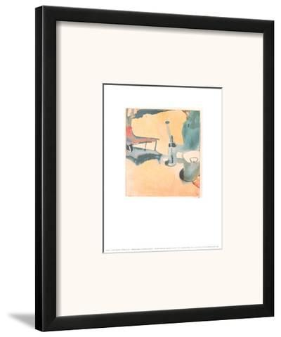 Path of Flowers, Watering Can and Bucket, c.1910-Paul Klee-Framed Art Print