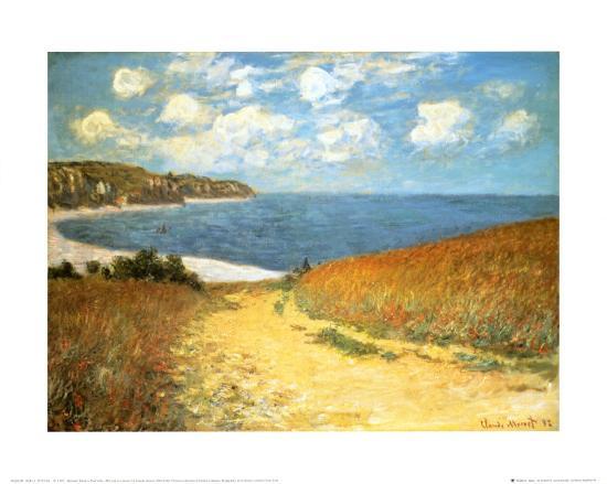 Path Through the Corn at Pourville, 1882-Claude Monet-Art Print