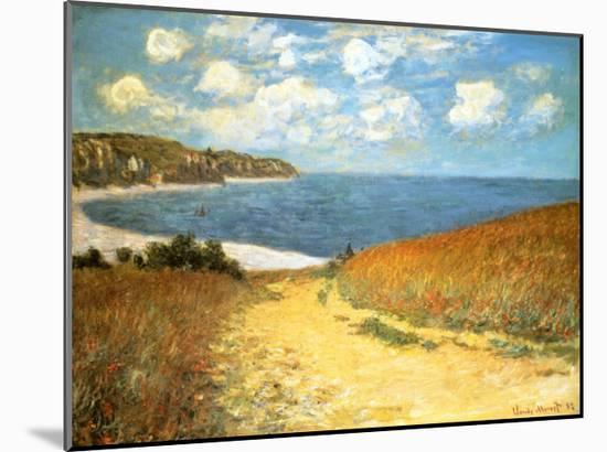 Path Through the Corn at Pourville, 1882-Claude Monet-Mounted Print