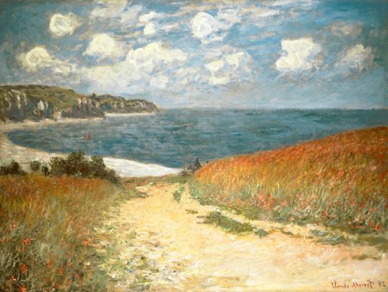 Path Through the Corn at Pourville, c.1882-Claude Monet-Art Print