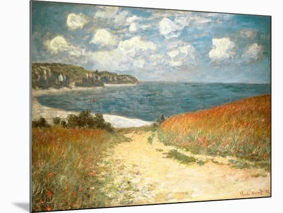 Path Through the Corn at Pourville, c.1882-Claude Monet-Mounted Art Print
