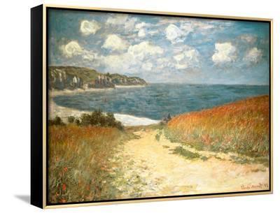 Path Through the Corn at Pourville, c.1882-Claude Monet-Framed Canvas Print