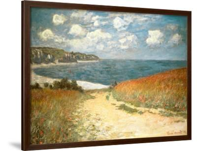 Path Through the Corn at Pourville, c.1882-Claude Monet-Lamina Framed Art Print