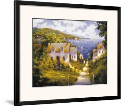 Path to Harbor-Barbara Applegate-Framed Art Print