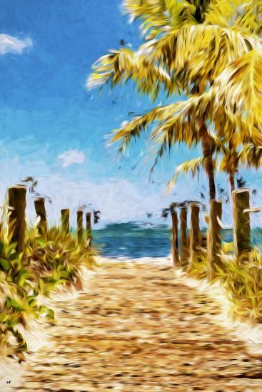Path to the Beach II - In the Style of Oil Painting-Philippe Hugonnard-Giclee Print