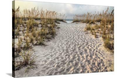 Path to the Beach-Michael Cahill-Stretched Canvas Print