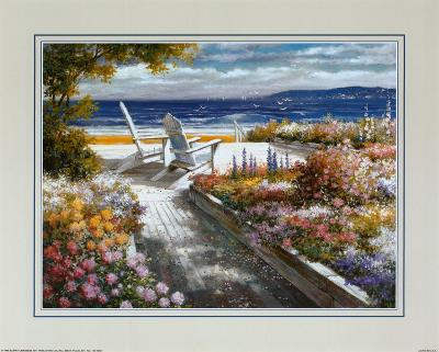 Path with Beach Chairs-T^ C^ Chiu-Art Print