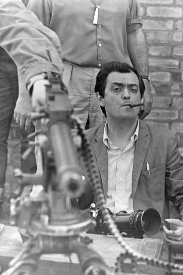PATHS OF GLORY, 1957 directed by STANLEY KUBRICK On the set, Stanley Kubrick (b/w photo)--Photo