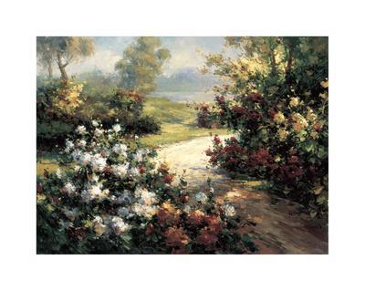 Pathway of Flowers-Leila-Giclee Print