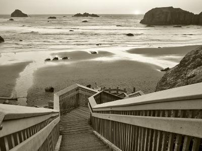 Pathway to Beach - Sepia-Dennis Frates-Photographic Print