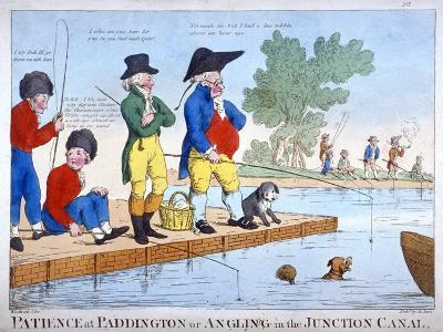 Patience at Paddington, or Angling in the Junction Canal, C1800-Roberts-Giclee Print