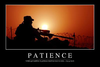 Patience: Citation Et Affiche D'Inspiration Et Motivation--Photographic Print