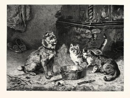 Patience, Dog and Cats Dinner--Giclee Print