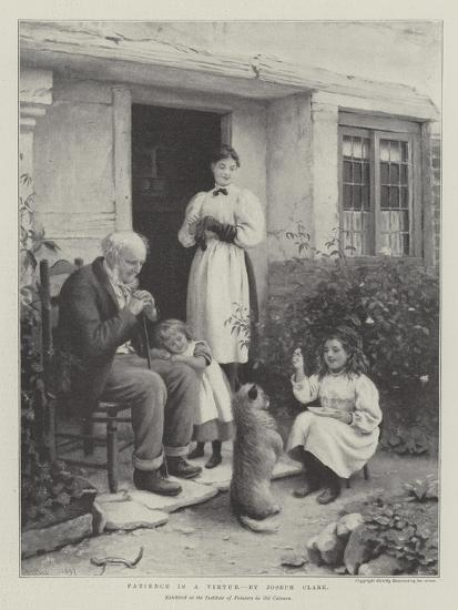 Patience Is a Virtue-Joseph Clark-Giclee Print