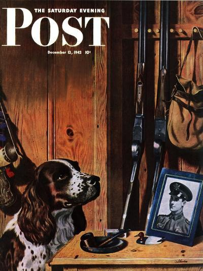 """Patient Dog,"" Saturday Evening Post Cover, December 12, 1942-John Atherton-Giclee Print"
