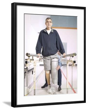 Patient with Rehabilitation Specialist--Framed Photographic Print