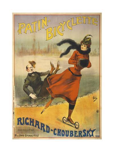 Patin-Bicyclette - Richard-Choubersky--Giclee Print