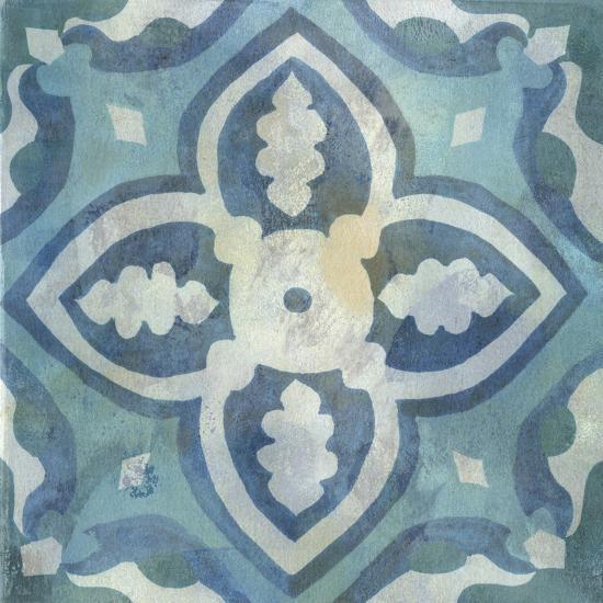 Patinaed Tile IV-Naomi McCavitt-Art Print