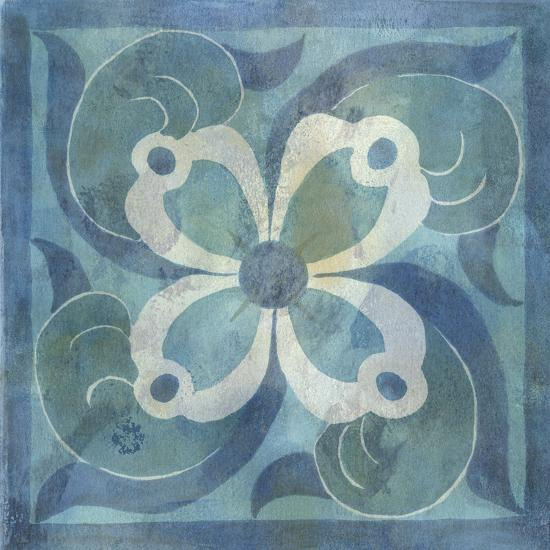 Patinaed Tile V-Naomi McCavitt-Art Print