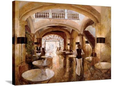 Patio Cappucino-Noemi Martin-Stretched Canvas Print