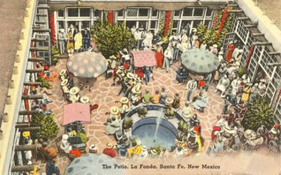 Patio, La Fonda Hotel, Santa Fe, New Mexico