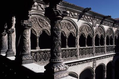 Patio of College of St Gregory, Valladolid, Castile and Leon, Detail, Spain--Giclee Print