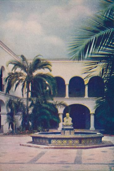 'Patio of the House of Hospitality', c1935-Unknown-Giclee Print