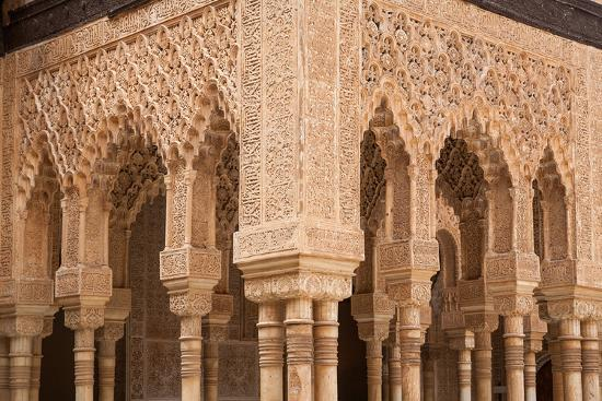 Patio of the Lions Columns from the Alhambra Palace-Lotsostock-Photographic Print