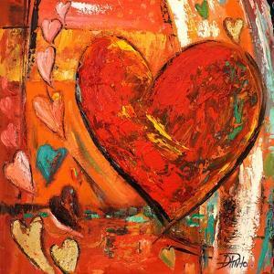 Hippie Hearts I by Patrcia Pinto