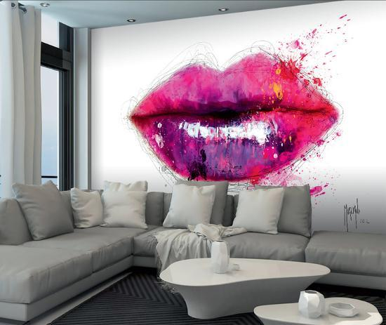 Patrice Murciano Lips Wall Mural Wallpaper Mural By