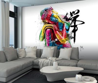 Patrice Murciano Buddha Mural by Patrice Murciano