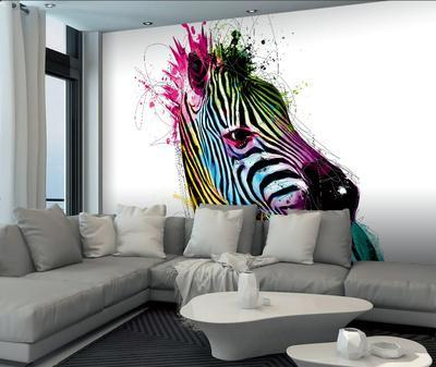 Patrice Murciano Zebra Wall Mural Wallpaper Mural by Patrice