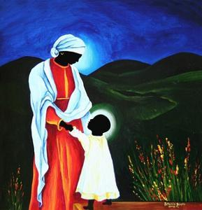 Madonna and Child - First Steps, 2008 by Patricia Brintle