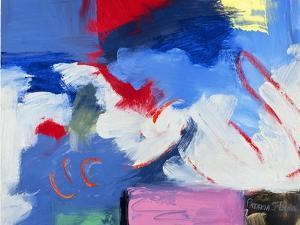Abstract, Red, Blue by Patricia Brown