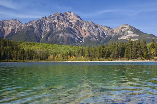 Patricia Lake and Pyramid Mountain, Jasper NP, Alberta, Canada.-Don Paulson-Photographic Print