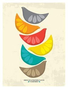 Birds Illustration I by Patricia Pino