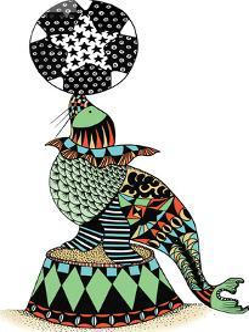 Circus Seal by Patricia Pino