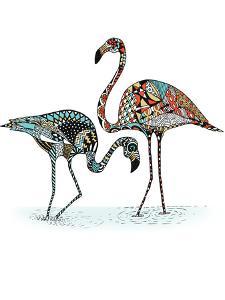 Flamingos by Patricia Pino