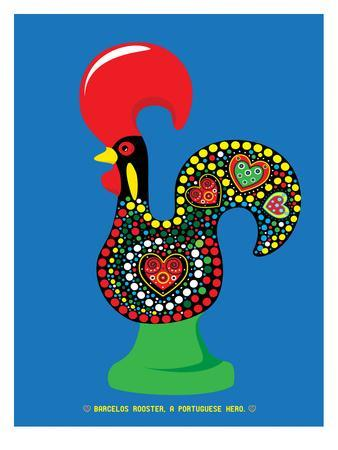 Portuguese Rooster Blue