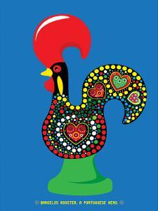 Portuguese Rooster Blue by Patricia Pino