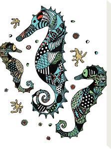 Seahorses by Patricia Pino