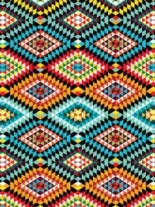 Tribal African Fabric Pattern by Patricia Pino