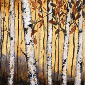 Birchwood Trees on Gold II by Patricia Pinto