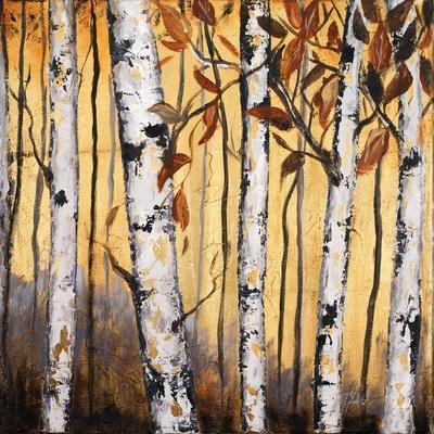 Birchwood Trees on Gold II