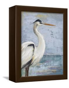 Blue Heron On Blue I by Patricia Pinto