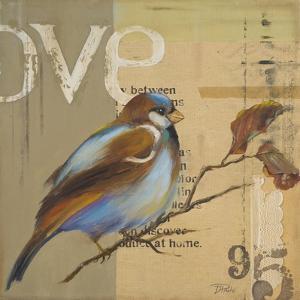 Blue Love Birds II by Patricia Pinto